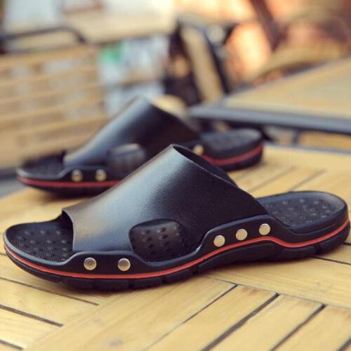 Men Slide Shoes Sandals Open Toe Flat Casual Slipper Summer Beach Vocation Size