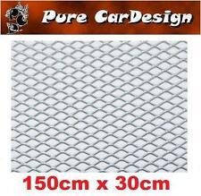 Streckgitter silber 150x30,  hochwertig und stabil 1,5 Meter, 1 Stück Alu Gitter