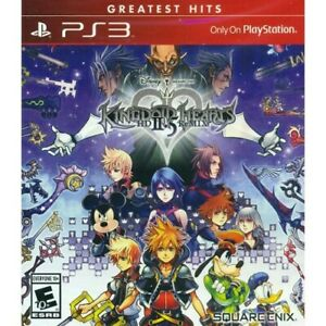 Kingdom Hearts HD 2.5 Remix For PlayStation 3 PS3 RPG Game Only 9E