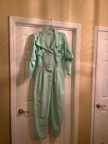 Vintage D. Frank Jumpsuit Size 14. Mint Green