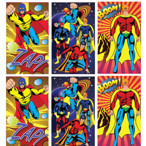 Pinata Toy Loot//Party Bag Fillers Wedding//Kids 6 Super Hero Notebooks