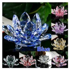 Large all colours crystal lotus flower ornament crystocraft home image is loading large all colours crystal lotus flower ornament crystocraft mightylinksfo