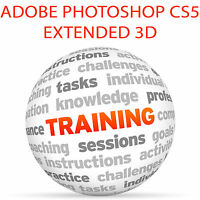 Adobe PHOTOSHOP CS5 Extended 3D - Video Training Tutorial SET 4DVD