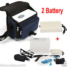 Portable Oxygen Concentrator Generator Home/Travel Car +2 Batteries+Case Special