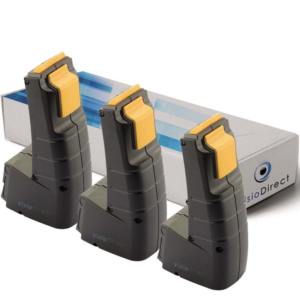 Lot de 3 batteries type 489257 pour Festool 9.6V 2000mAh - Société Française -