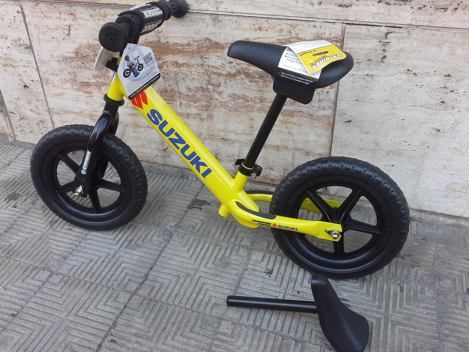 ORIGINALE SUZUKI MOTO BIMBO KIDDI BIKE 3 ANNI senza pedali -Kiddimoto-Legno