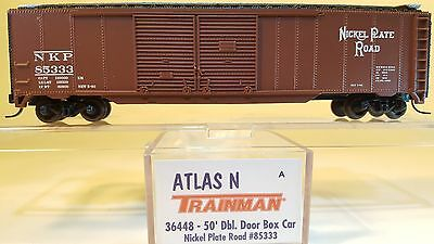 N Atlas 36448 50' Double Door Box Car Nickel Plate Rd #85333 Relieving Heat And Sunstroke N Scale Model Railroads & Trains