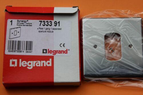 Legrand Synergy 7333 91 Grille Plaque 1 G 1 ouverture en acier inoxydable poli Chrome