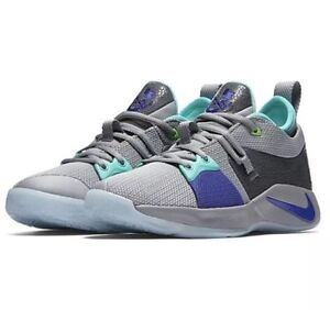 official photos 6006d 6455b Details about Nike PG 2 GS Paul George Pure Platinum/Neo Turquoise  Basketball Shoes 943820-002