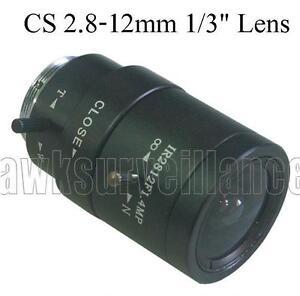 2.8mm-12mm Manual Zoom Manual Focal CS Mount Lens for CCTV Cameras