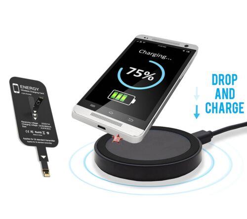 Qi Pad Ricarica Carica Caricabatteria Wireless   Adattatore per SAMSUNG A7 2018
