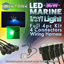 36W LED Boat Plug Light Drain Marine Underwater Changing RGB Phone App - 4Pcs