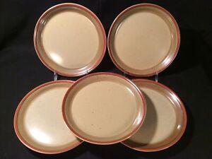 "Lot 5 Mikasa Potters Art ""Country Cabin"" Ben Seibel 8"" Salad Plate - Near Mint"