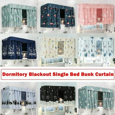 Cabin Bunk Bed Tent Curtain Cloth Dormitory Mid Sleeper Bed Canopy Spread Screen Ebay