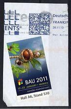 GERMANY - 2011 BAU ettiquette label, Fine Used on piece. Unusual.