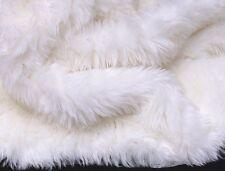 PURE WHITE Faux FUR area Rug 5' x 8' washable non-slip MADE IN USA