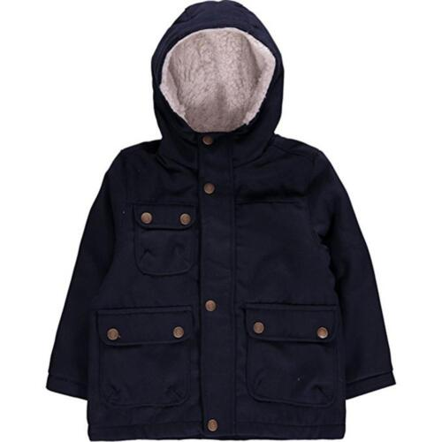 London Fog Toddler Boys Navy Blue Faux Wool Jacket Size 2T 3T 4T