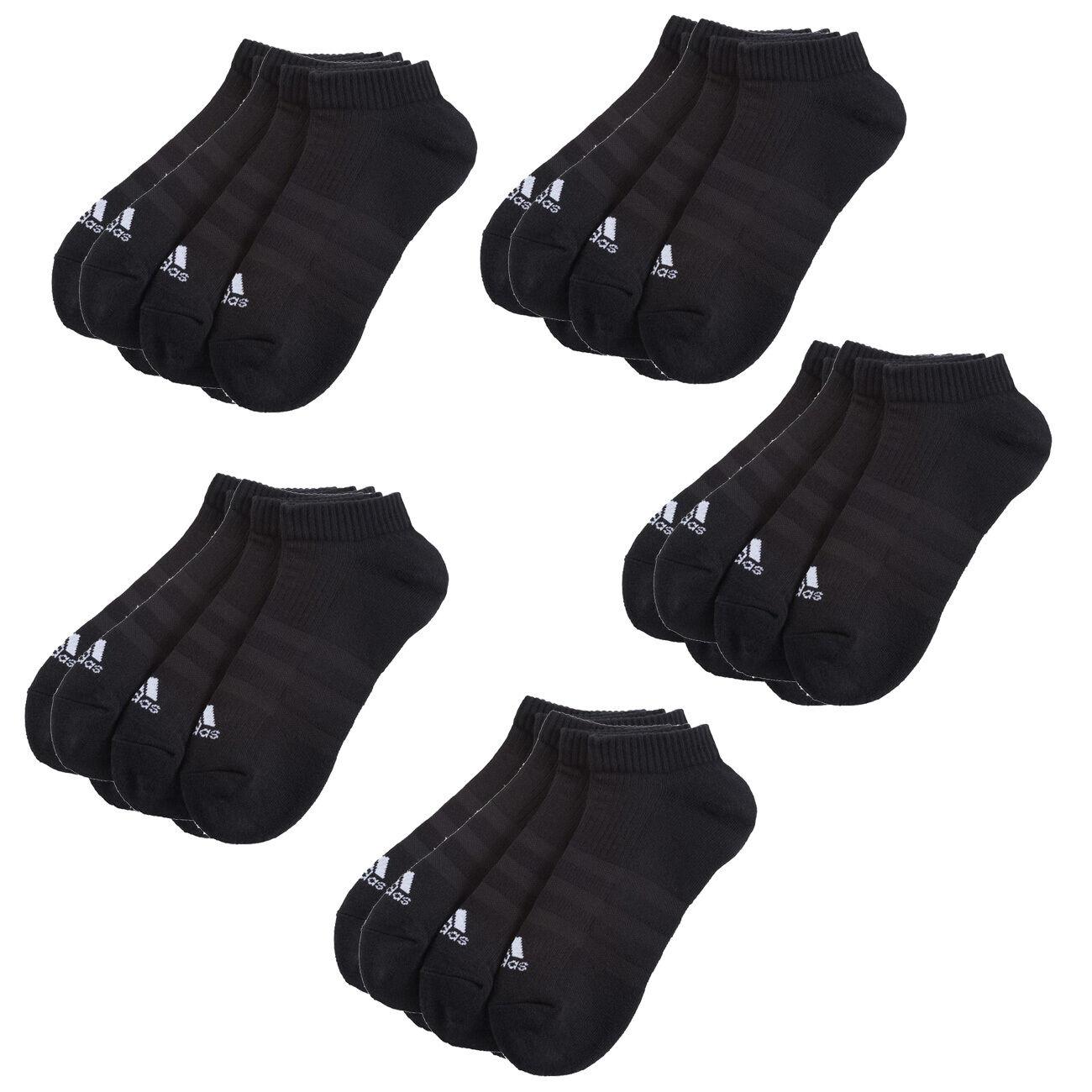 15 Paar ADIDAS NoShow Turnschuhe Socken schwarz 39-46 15er Pack Füßlinge Low Cut