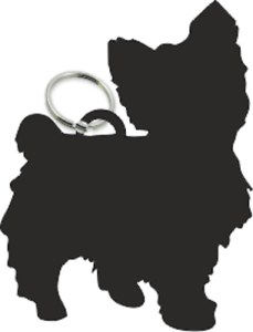 Yorkshire Terrier Dog Key Ring Fob Yorkie Dogs