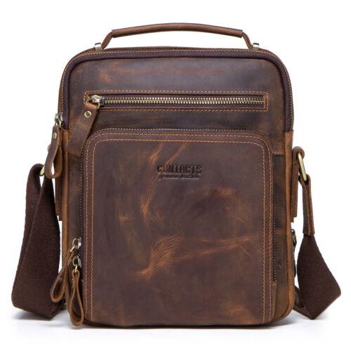Mens Genuine NUBUCK Leather Handbag Briefcase Tote Laptop Shoulder Messenger Bag