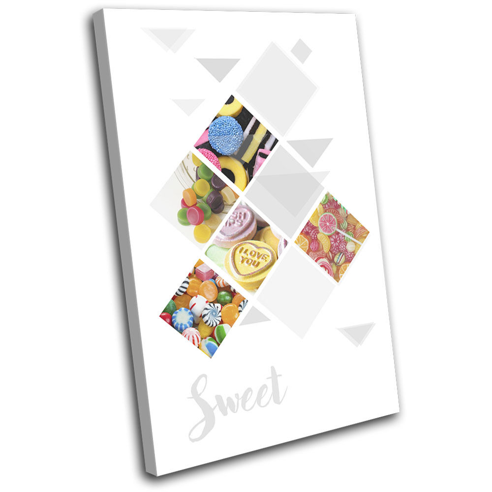 Sweet Lovehearts Mixture Food Kitchen Single Toile Murale Art Photo