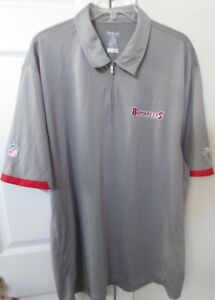 9c08e394 Details about NFL Tampa Bay Buccaneers Golf Polo Shirt by Reebok XL Gray