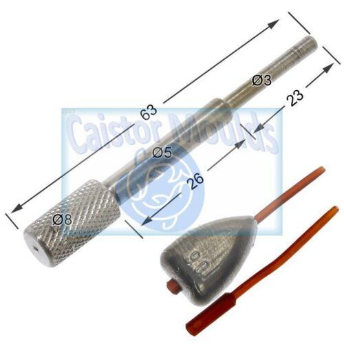 Inline Dumpy Flat Pear Mould CM165 Carp weight sinker Carp fishing weight mould