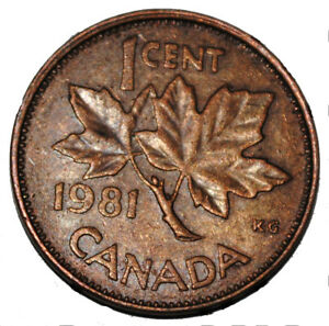 Canada 1981 1 Cent Copper One Canadian Penny Coin Ebay