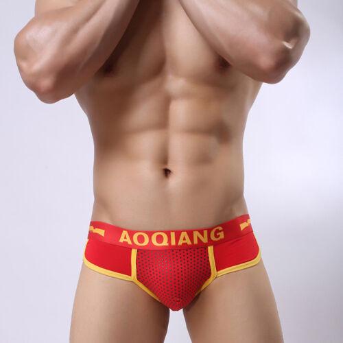 Fashion Men/'s Boxer Briefs Shorts Soft Cotton Underwear Bulge Pouch Underpants