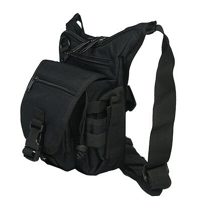 Men's Vintage Military Outdoor Travel Waist Leg Fanny Shoulder Bag Pack