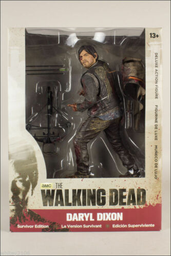 THE WALKING DEAD TV SERIES DARYL DIXON SURVIVOR DELUXE BOX MCFARLANE FIGURE 25CM