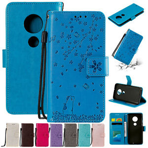 Pour-Motorola-Moto-G7-Power-G6-Play-E5-plus-Case-Aimant-Flip-Portefeuille-Cuir-Cover