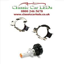 2x H7 LED Headlight Bulb Adapters Holders Audi BMW Mercedes-Benz Skoda VW Nissan