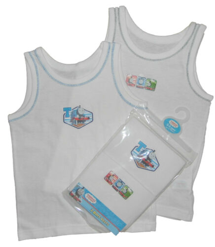 Boys Thomas The Tank Engine Two Pack Vests 1824 Months Up to 45 Years