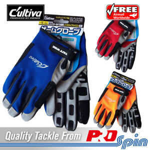 6cf281a6d9afe Owner Cultiva Full Finger Game Fishing Jigging Gloves - Choose Size and  Colour