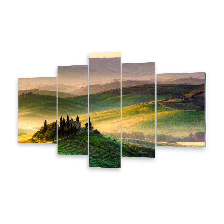 Mehrteilige Bilder Glasbilder Wandbild Toskana Panorama