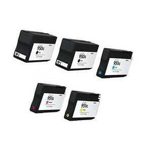 5Pack-For-HP-950-XL-951XL-Combo-Ink-Cartridges-For-Officejet-8600-Plus-8600-8100