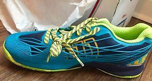 Wilson Kaos Men's Tennis Shoe - Lime Green/Turquoise - Size 12
