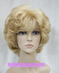 2017 Ladies Wigs Golden Blonde Short Women Curly Natural Hair Wigs