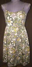 Liberty of London yellow white green groovy flower print sun dress XL like MED