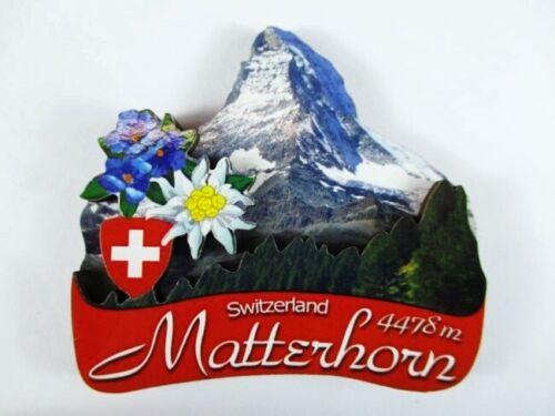 Matterhorn 3 D Holz Souvenir Deluxe Magnet,Schweiz Suisse,Neu