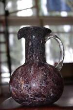 Vase Goldflitter Blumenvase 70er Krugform True VINTAGE lila 16 cm 70s jug shape