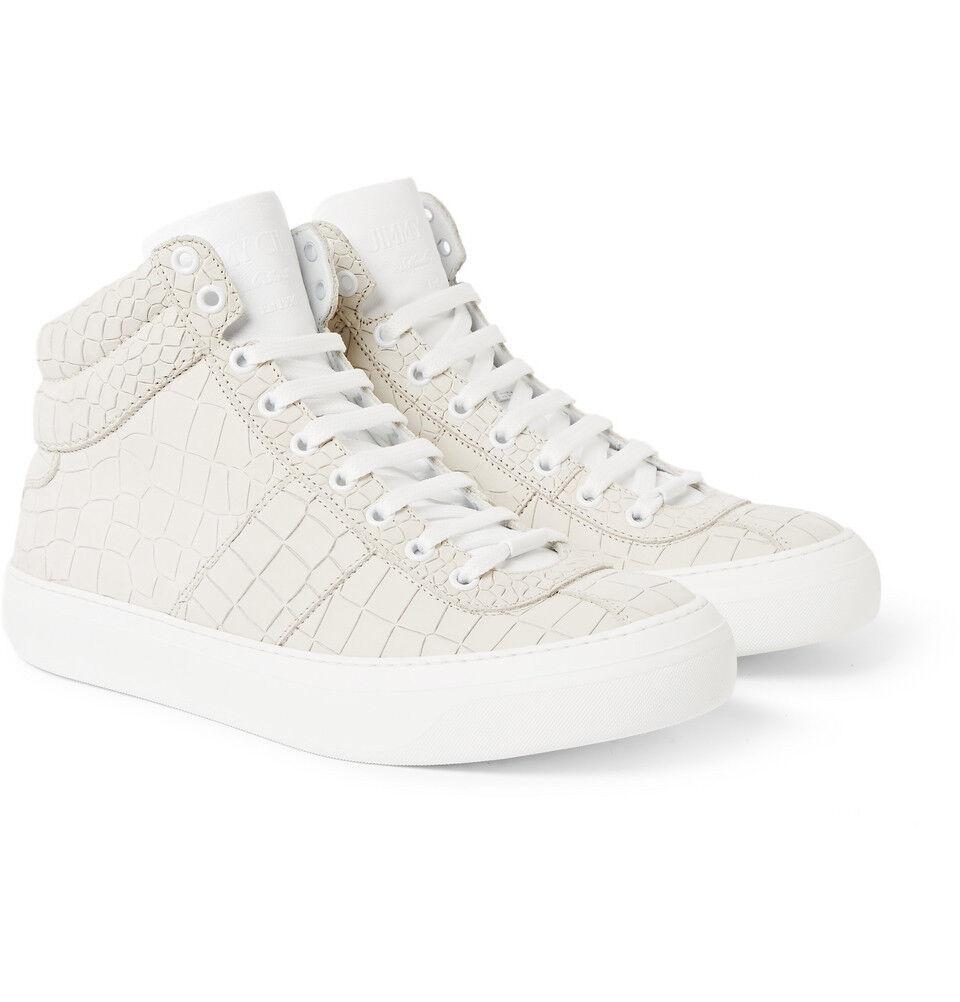 Nueva marca Jimmy Choo Belgravia Belgravia Belgravia High Top Sneaker Marea Negra Charol UK7 fab389