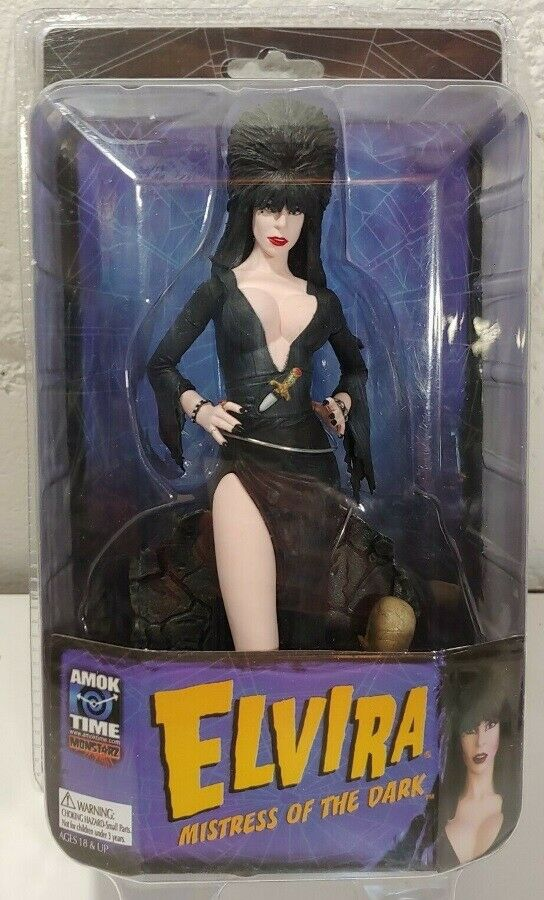 Elvira Mistress Of The Dark Figure Amok Time Toy Co Cassandra Peterson Monstarz