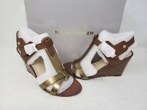 b377ea19ed9 NEW! Marc Fisher Women's Casandra Wedge Sandals Brown R13 tz | eBay