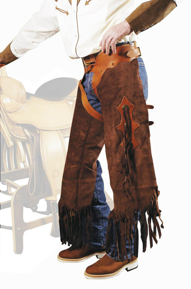 "LAKOTA CHAPS SHORT LEATHER SMOOTH MODEL ""RODEO"""