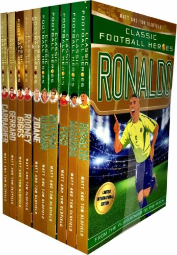 Classic Football Heroes Legend Series Collection 10 Books Set Pack Tom Oldfield