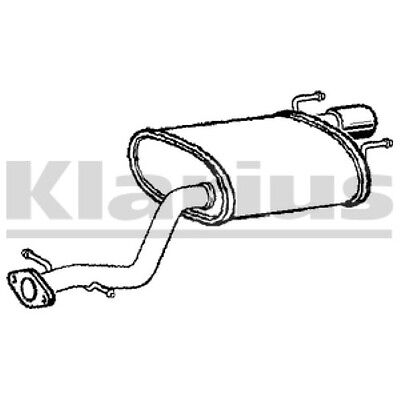 End Silencer Exhaust For FORD Petrol 1x KLARIUS OE Quality Replacement Rear