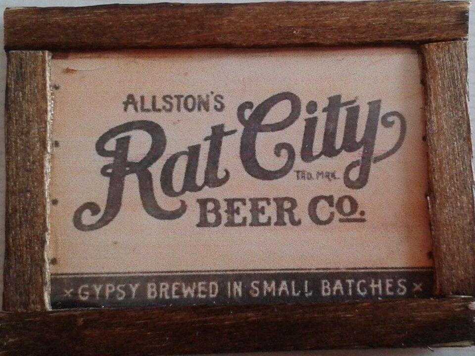 Dolls House Rat City Beer pub AdGrün
