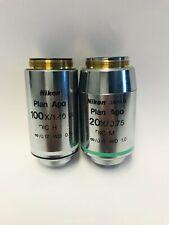 Nikon Objective Eclipse Plan Apo 100x 140 Oil Dic H Amp Plan Apo 20x075 Dic M